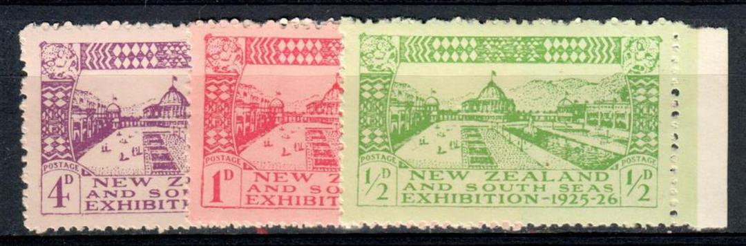 NEW ZEALAND 1925 Dunedin Exhibition. Set of 3. - 75164 - LHM image 0