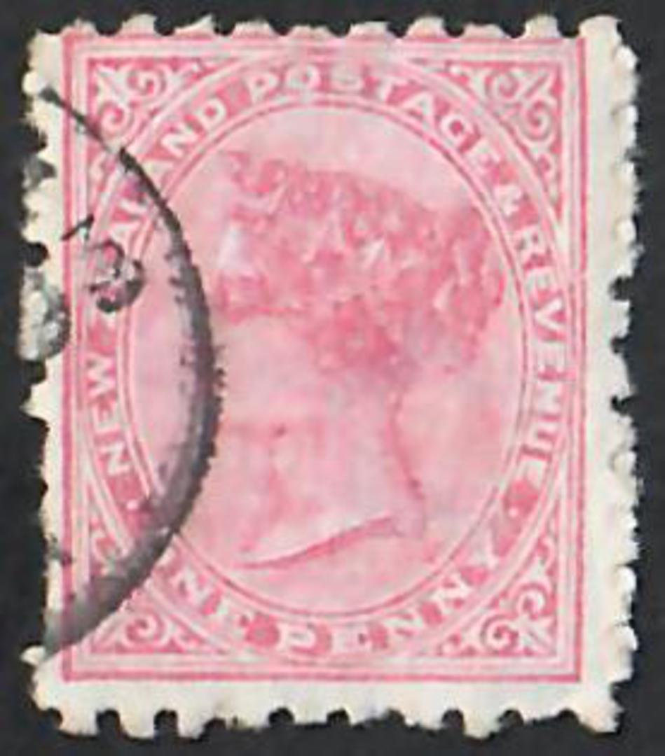 NEW ZEALAND 1882 Victoria 1st Second Sideface 1d Red. Lilac advert. Every dose of Bonnington's Irish Moss is Effective. - 4017 - image 0
