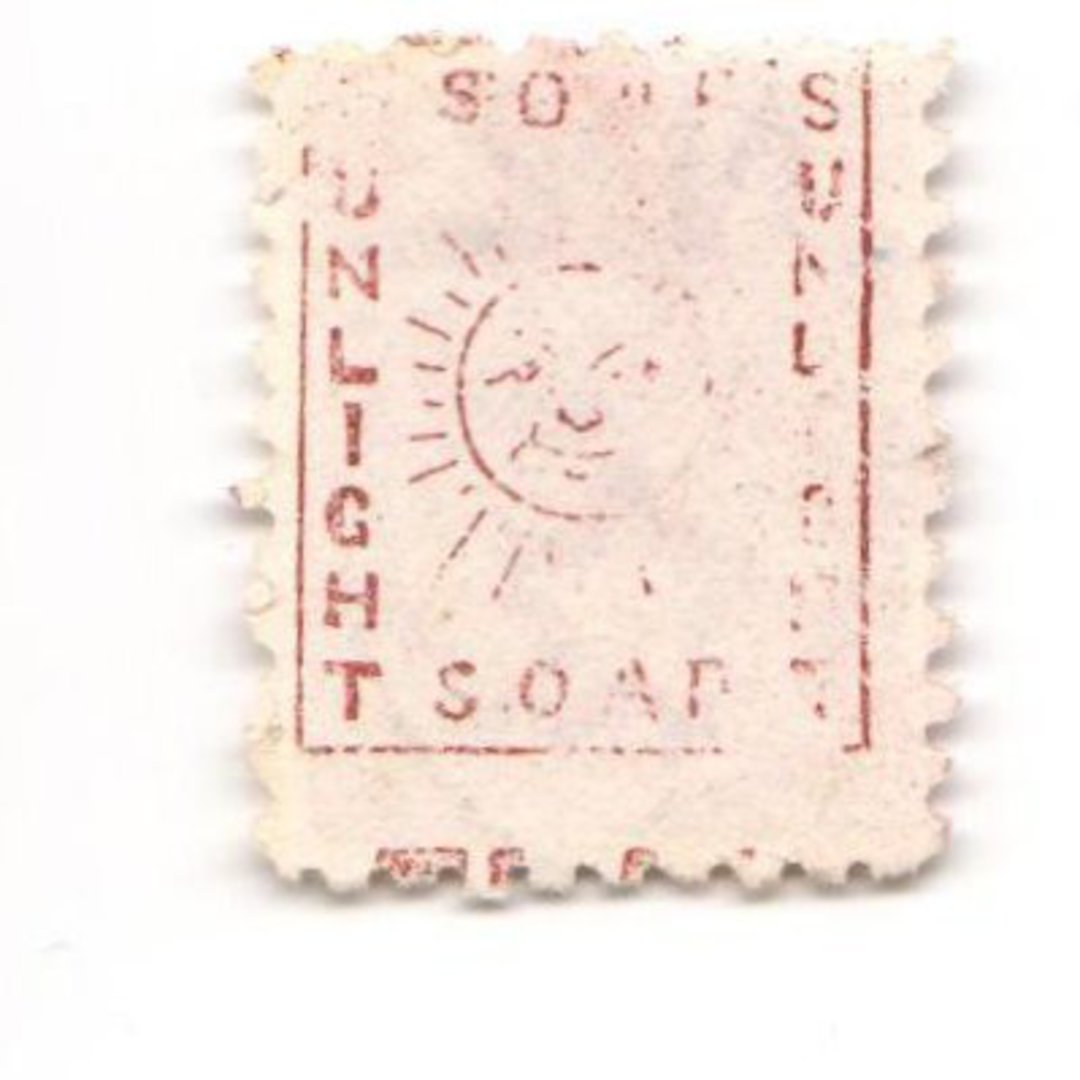NEW ZEALAND 1882 Victoria 1st Second Sideface 2d Mauve. Perf 10. Secnd setting. Sunlight Soap (vertical with the sun). - 3954 - image 0