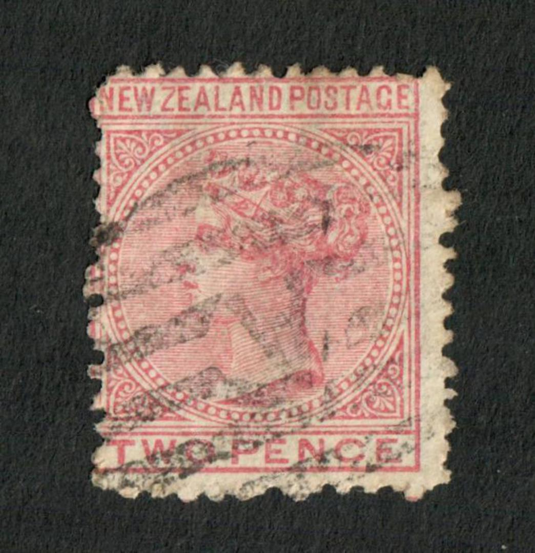 NEW ZEALAND 1874 Victoria 1st First Sideface 2d. Rose. Perf 12½.  Watermark 3. - 75188 - Used image 0
