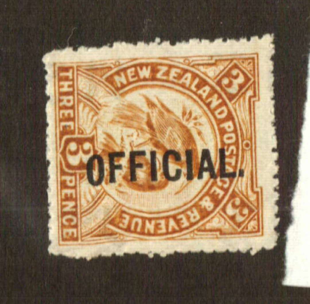 NEW ZEALAND 1898 Pictorial Official 3d Huias. - 74728 - UHM image 0