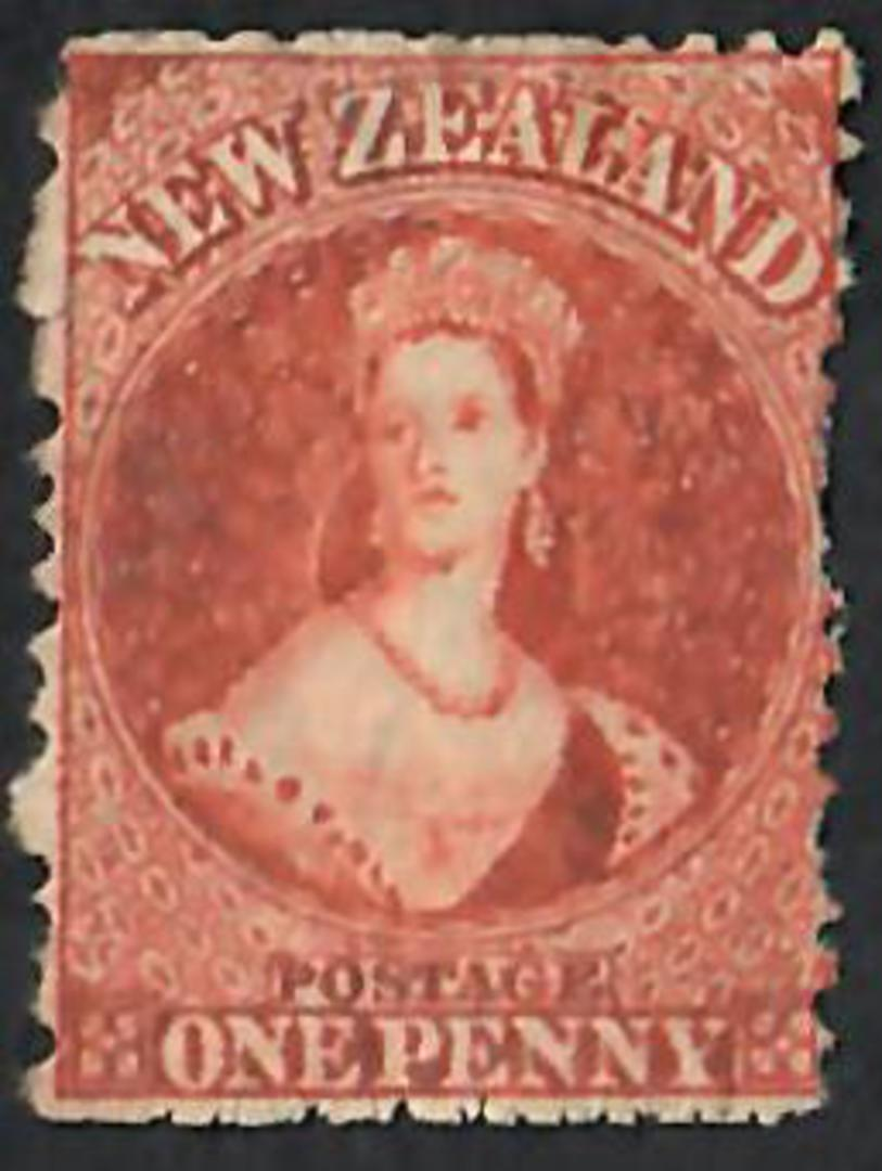 NEW ZEALAND 1862 Full Face Queen 1d Red. Good red colour. - 60092 - Mint MNG image 0