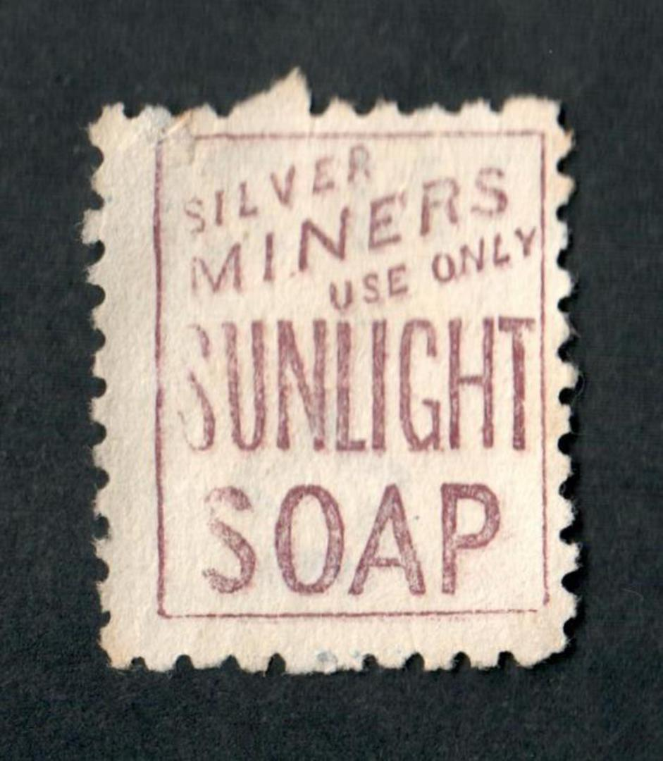 NEW ZEALAND 1882 Victoria 1st Second Sideface 8d Blue. Perf 10. 3rd setting in Brown-Purple. Sunlight Soap. - 4004 - FU image 1