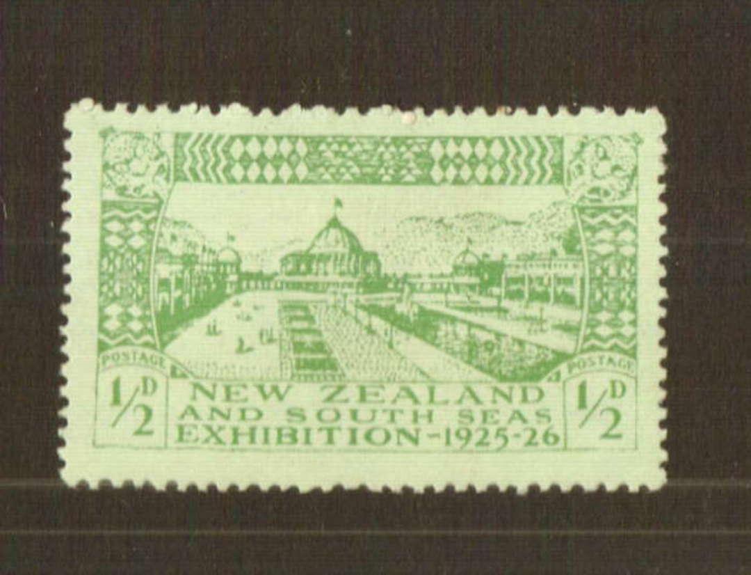 NEW ZEALAND 1925 Dunedin Exhibition ½d Green. - 74781 - Mint image 0