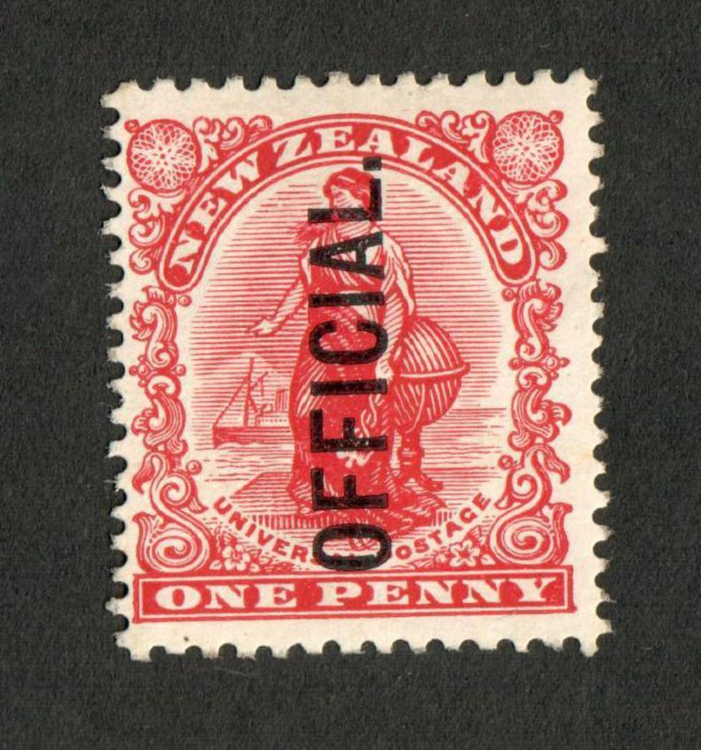 NEW ZEALAND 1907 1d Universal. Diagonal shading. - 74 - UHM image 0