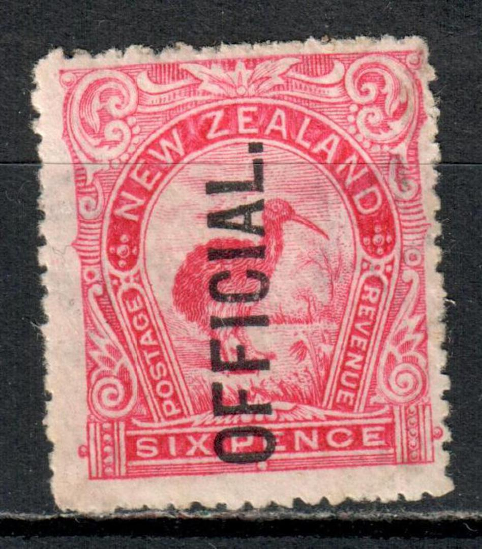 NEW ZEALAND 1898 Pictorial Official 6d Red. - 63 - LHM image 0