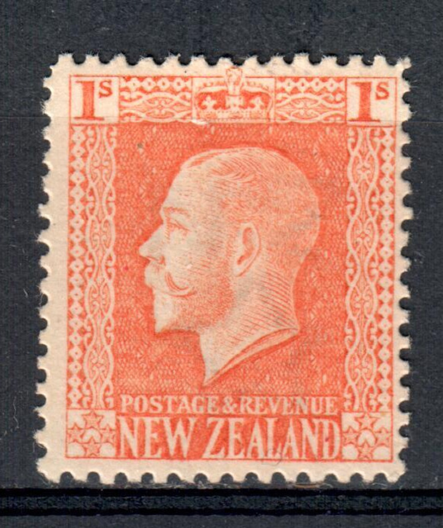 NEW ZEALAND 1915 Geo 5th Definitive 1/- Salmon. - 79429 - LHM image 0