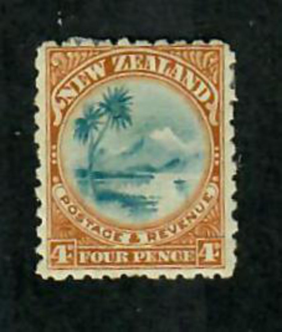 NEW ZEALAND 1898 Pictorial 4d Lake Taupo. First Local Issue on Unwatermarked Paper. Perf 11. - 74198 - Mint image 0