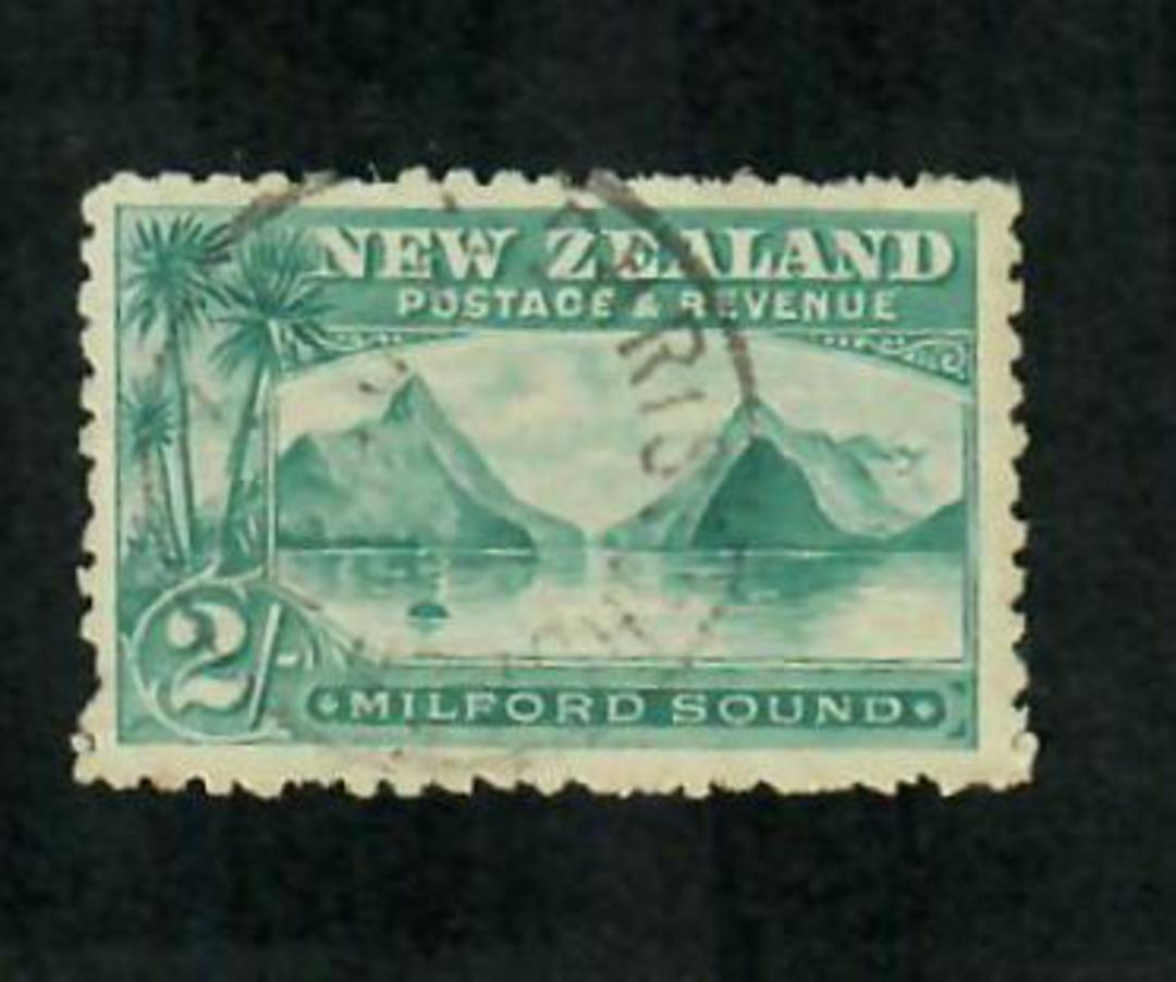 NEW ZEALAND 1898 Pictorial 2/- Blue-Green. First Local Issue. - 74673 - VFU image 0