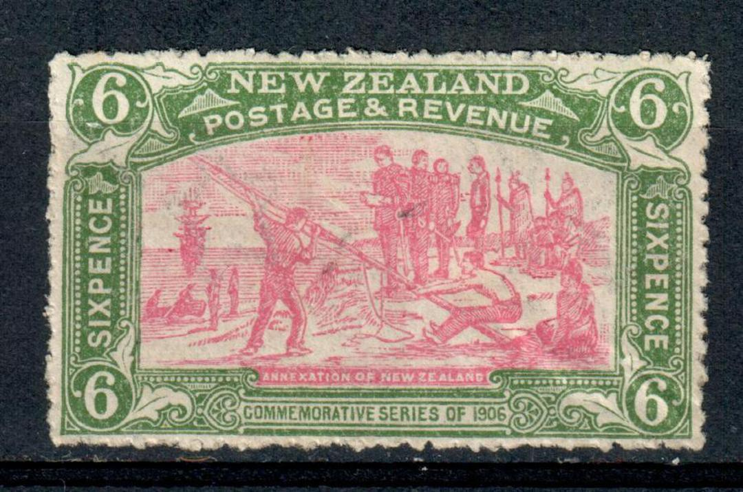 NEW ZEALAND 1906 Christchurch Exhibition 6d Annexation.  Nice bright colours. Crease not visible at first look. Has had adhesion image 0