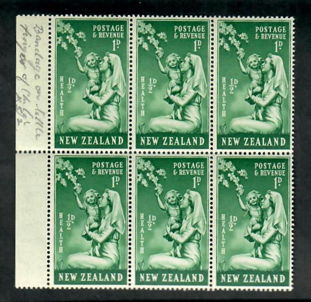 NEW ZEALAND 1949 Health. Bandage on little finger of child. Block. - 20066 - UHM image 0