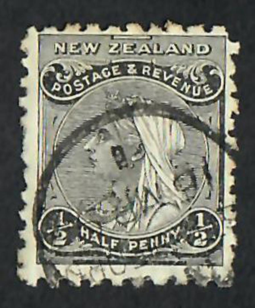 NEW ZEALAND 1882 Victoria 1st Second Sideface ½d Black. - 10027 - FU image 0