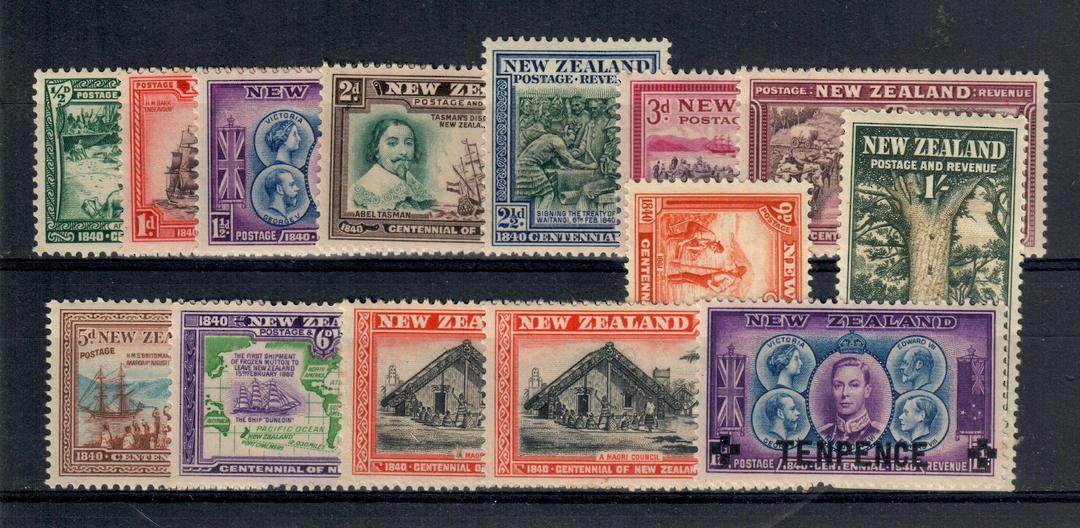 NEW ZEALAND 1940 Centennial. Set of 13. - 21014 - UHM image 0