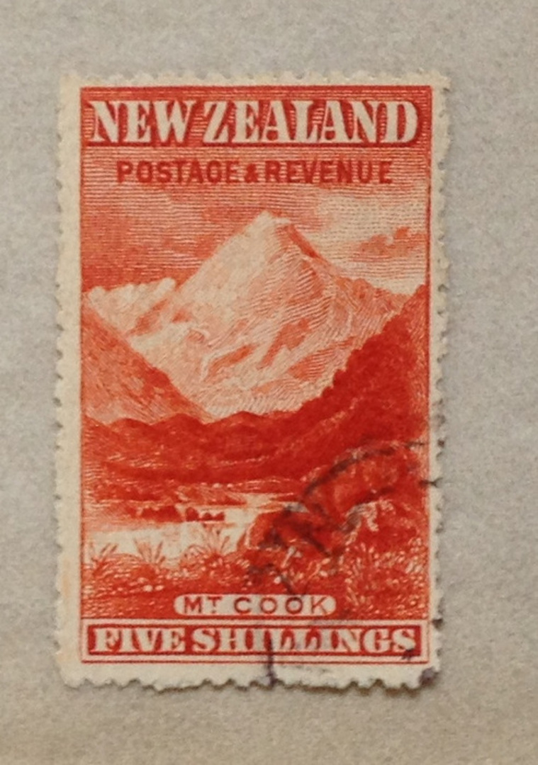 NEW ZEALAND 1898 Pictorial 5/- Vermilion. - 75002 - CTO image 0