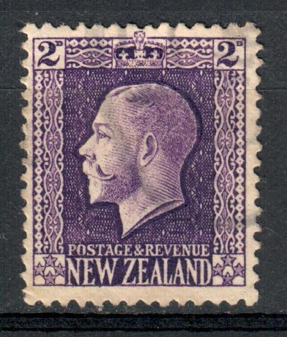 NEW ZEALAND 1915 Geo 5th Definitive 2d Violet Recess Print. - 10097 - VFU image 0