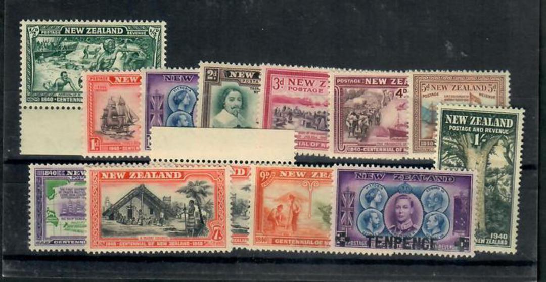 NEW ZEALAND 1940 Centennial. Set of 14. - 20072 - UHM image 0