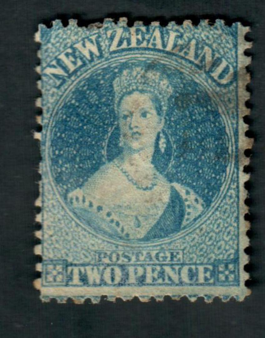 NEW ZEALAND 1862 Victoria 1st Full Face Queen 2d Blue. Watermark Large Star. Perf 12½. - 39066 - Used image 0
