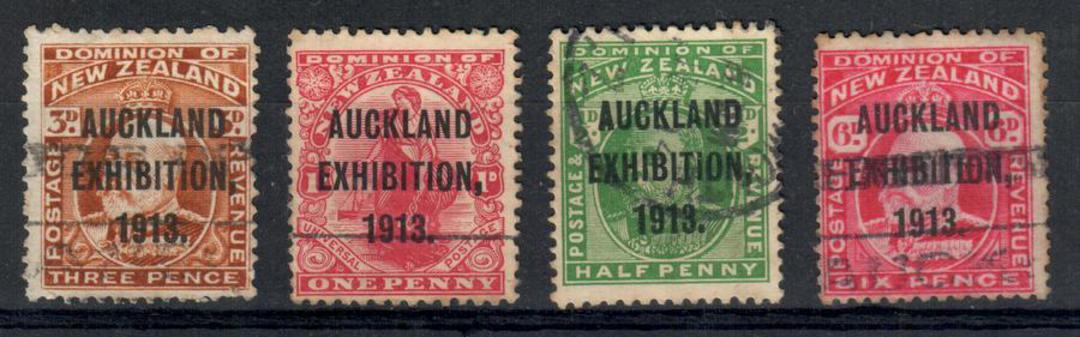 NEW ZEALAND 1913 Auckland Exhibition. Set of 4. Commercially used. Sound. - 24023 - Used image 0