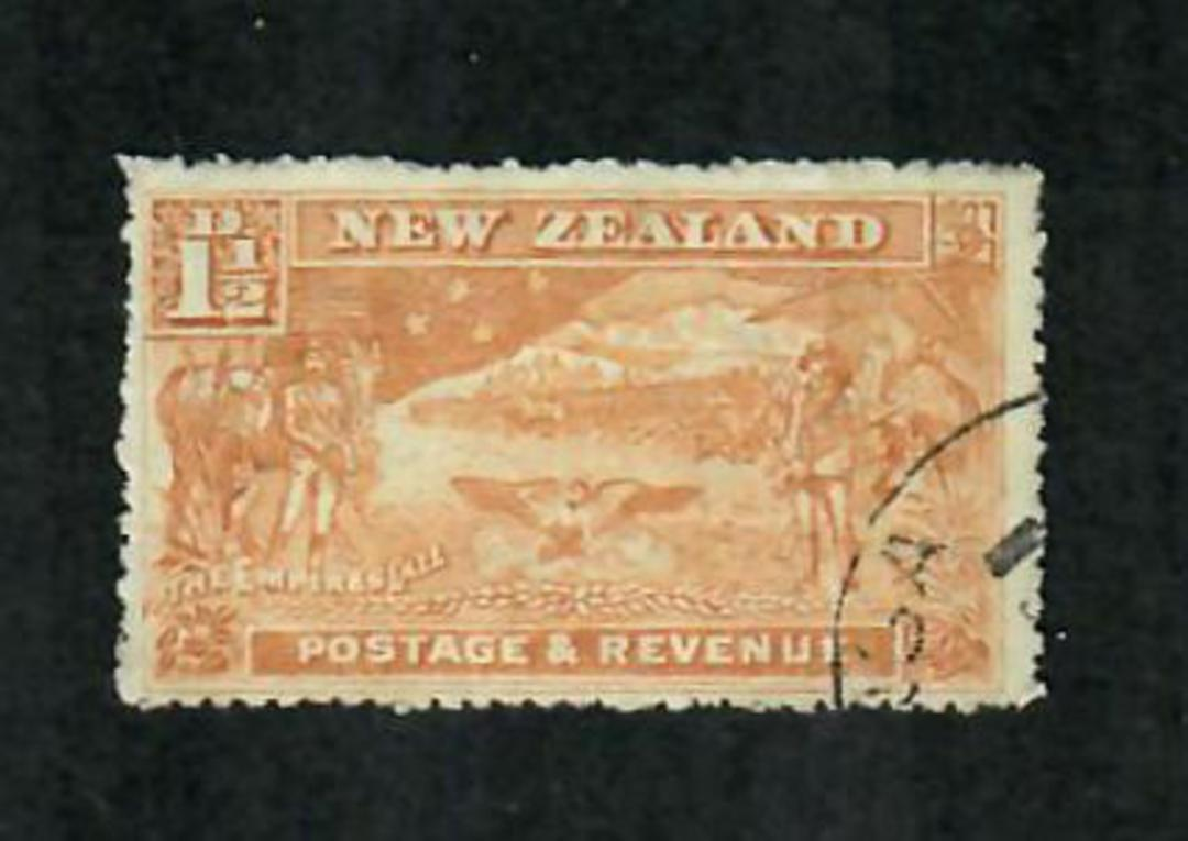 NEW ZEALAND 1898 Pictorial 1½d Chestnut. Watermark 7. Perf 14. - 71281 - VFU image 0