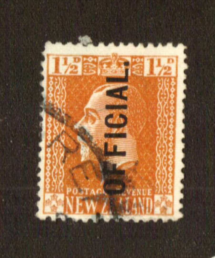 NEW ZEALAND 1915 Geo 5th Official  1½d Orange-Brown. Cowan Paper. Perf 14x15. - 74662 - VFU image 0