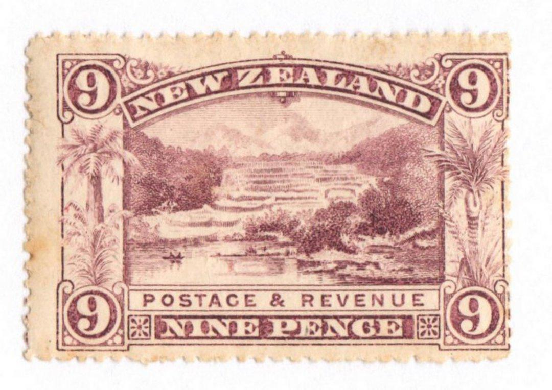 NEW ZEALAND 1898 Pictorial 9d Purple. London Print. Very Fresh. - 74095 - LHM image 0