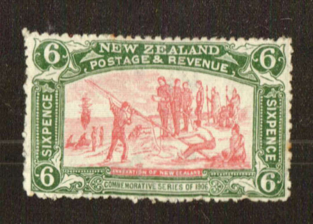 NEW ZEALAND 1906 Christchurch Exhibition 6d Pink and Green. Two or three small rust spots. - 71307 - LHM image 0