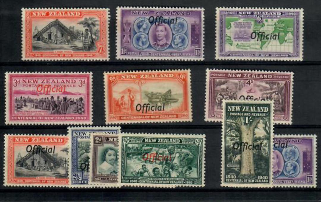 NEW ZEALAND 1940 Centennial. Set of 11. - 20122 - LHM image 0