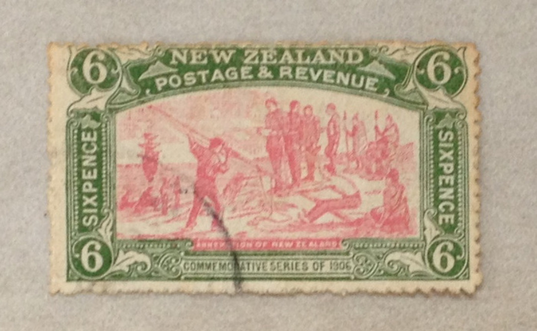 NEW ZEALAND 1906 Christchurch Exhibition 6d. Very nice copy. Centred slightly north. - 70693 - VFU image 0