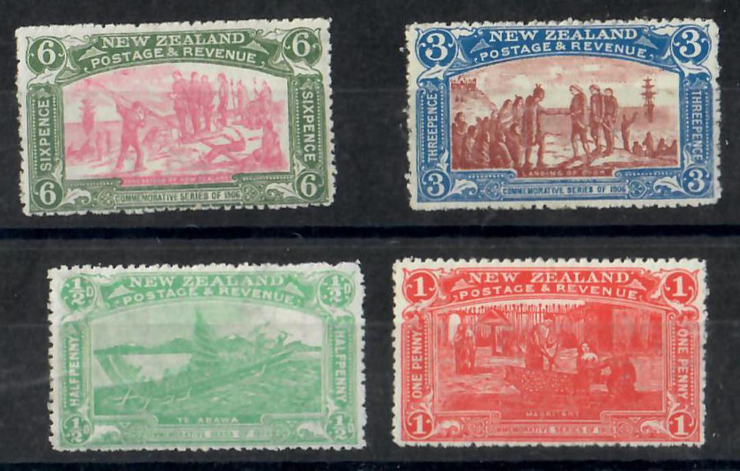 NEW ZEALAND 1906 Christchurch Exhibition. Set of 4. - 26070 - LHM image 0