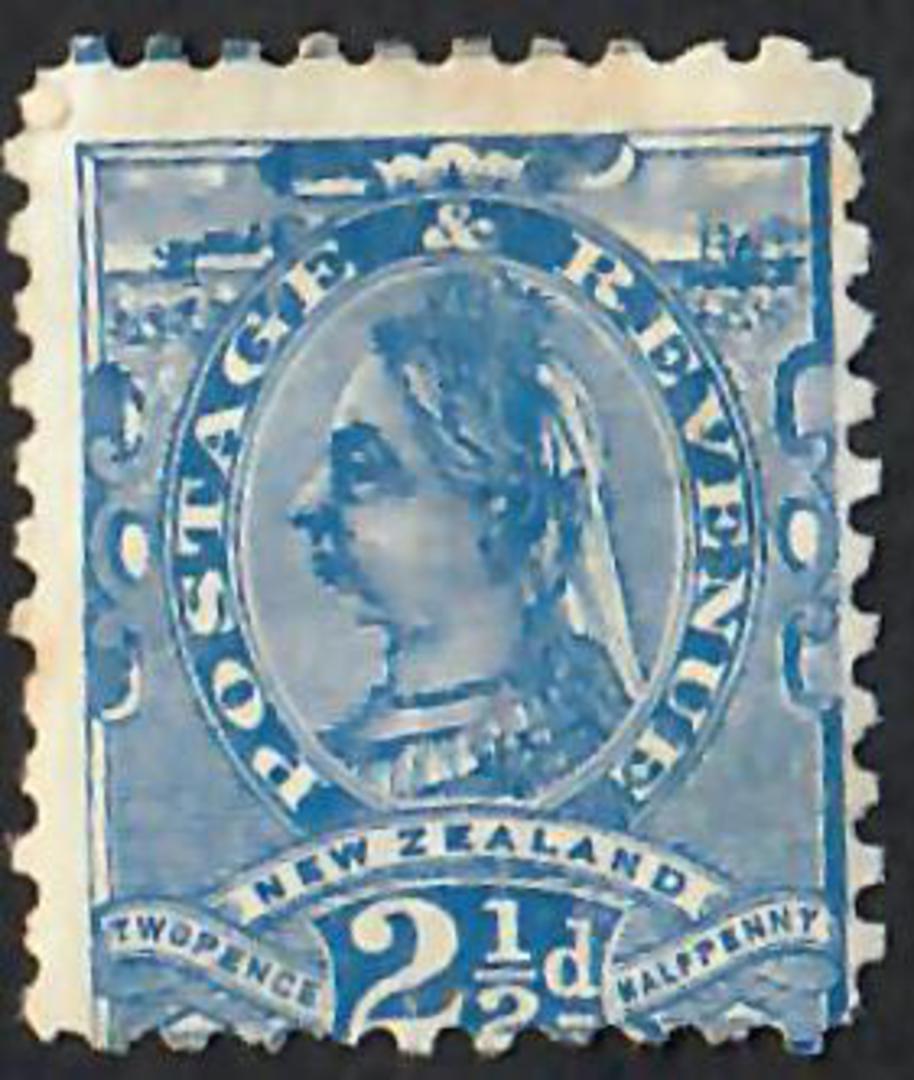 NEW ZEALAND 1882 Victoria 1st Second Sideface 2½d Blue. - 30 - Mint image 0