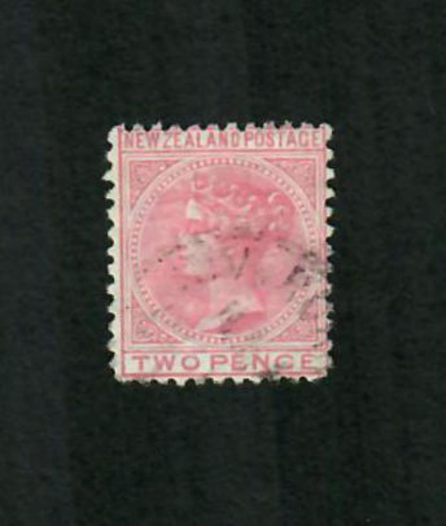 NEW ZEALAND 1874 Victoria 1st First Sideface 2d Red. - 10020 - FU image 0