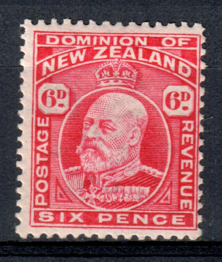 NEW ZEALAND 1909 Edward 7th Definitive 6d Red. - 83 - UHM image 0