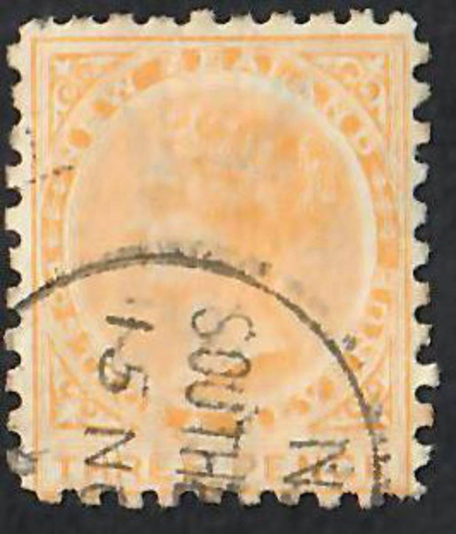 NEW ZEALAND 1882 Victoria 1st Second Sideface 3d Yellow. - 10031 - FU image 0