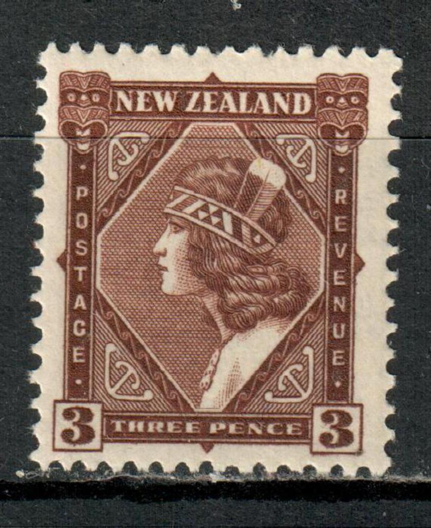 NEW ZEALAND 1935 Pictorial 3d Brown. - 162 - UHM image 0