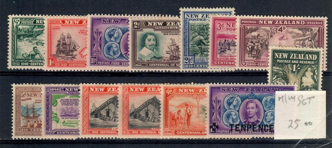 NEW ZEALAND 1940 Centennial. Set of 13. - 21142 - Mint image 0