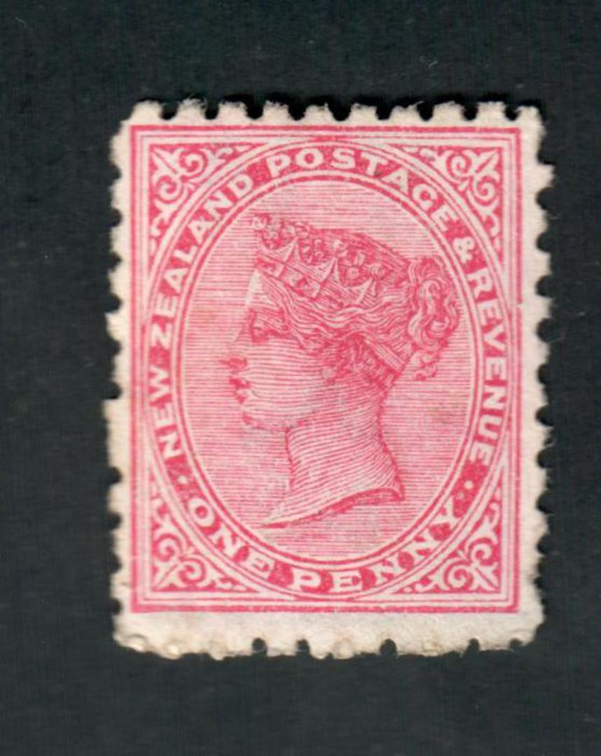 NEW ZEALAND 1882 Victoria 1st Second Sideface 1d Red. Use the Best Soap Sunlight. Second setting. - 3955 - MNG image 0