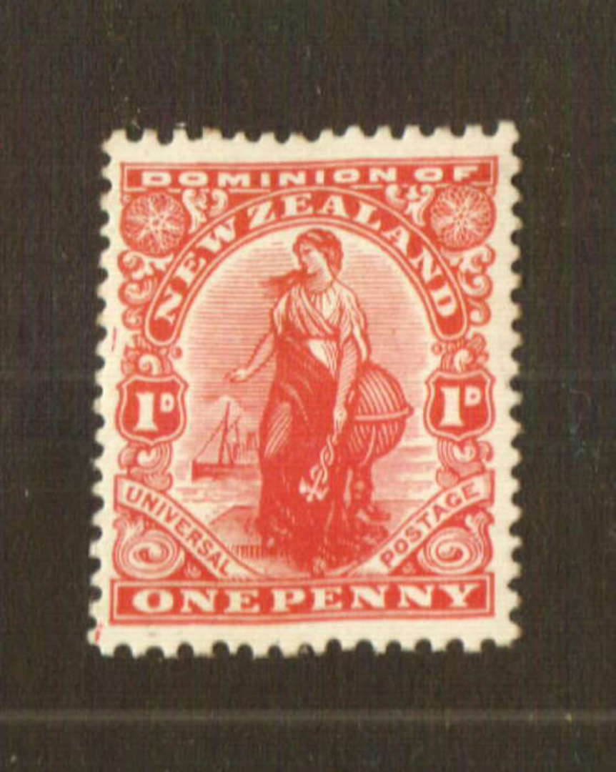 NEW ZEALAND 1926 1d Dominion on Wiggins Teape Medium Hard Paper with Colourless Gum and Upright Watermark - 74786 - UHM image 0