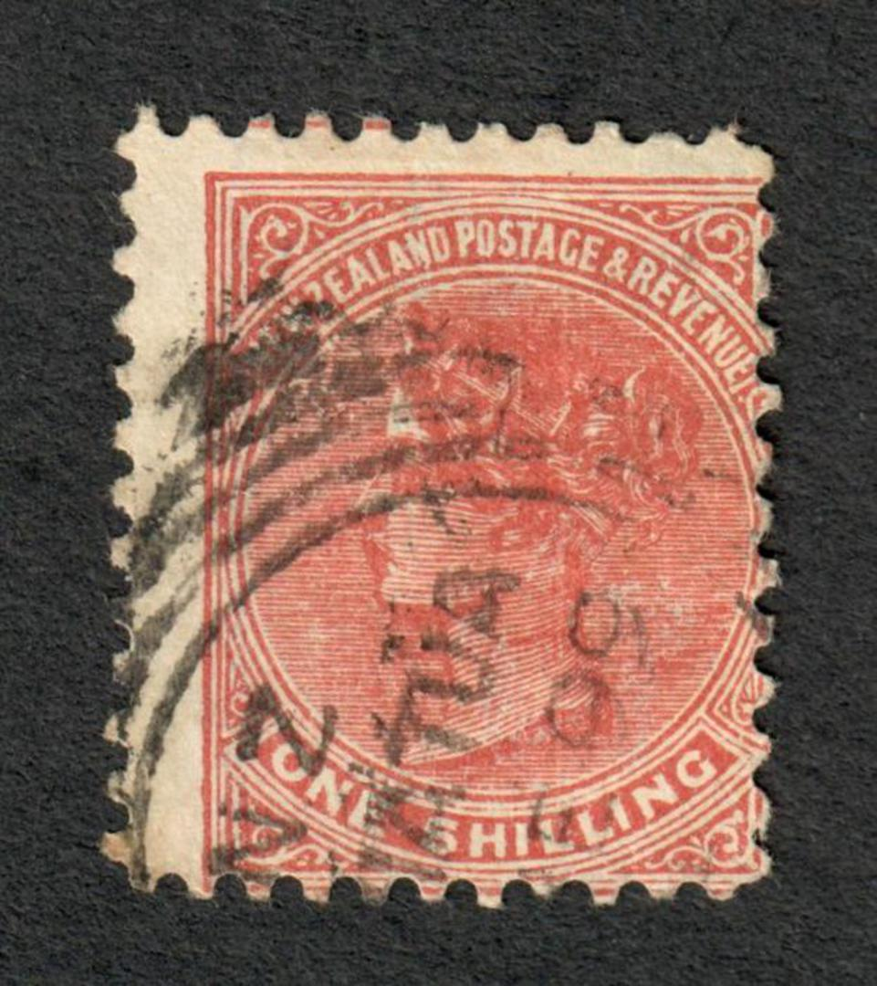 NEW ZEALAND 1882 Victoria 1st Second Sideface 1/- Chestnut. - 10036 - FU image 0