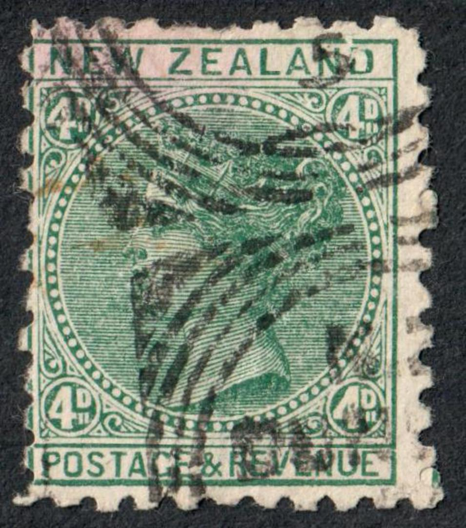 NEW ZEALAND 1882 Victoria 1st Second Sideface  4d Green with advert. Third setting in mauve. Frys pure concentrated cocoa. - 704 image 0