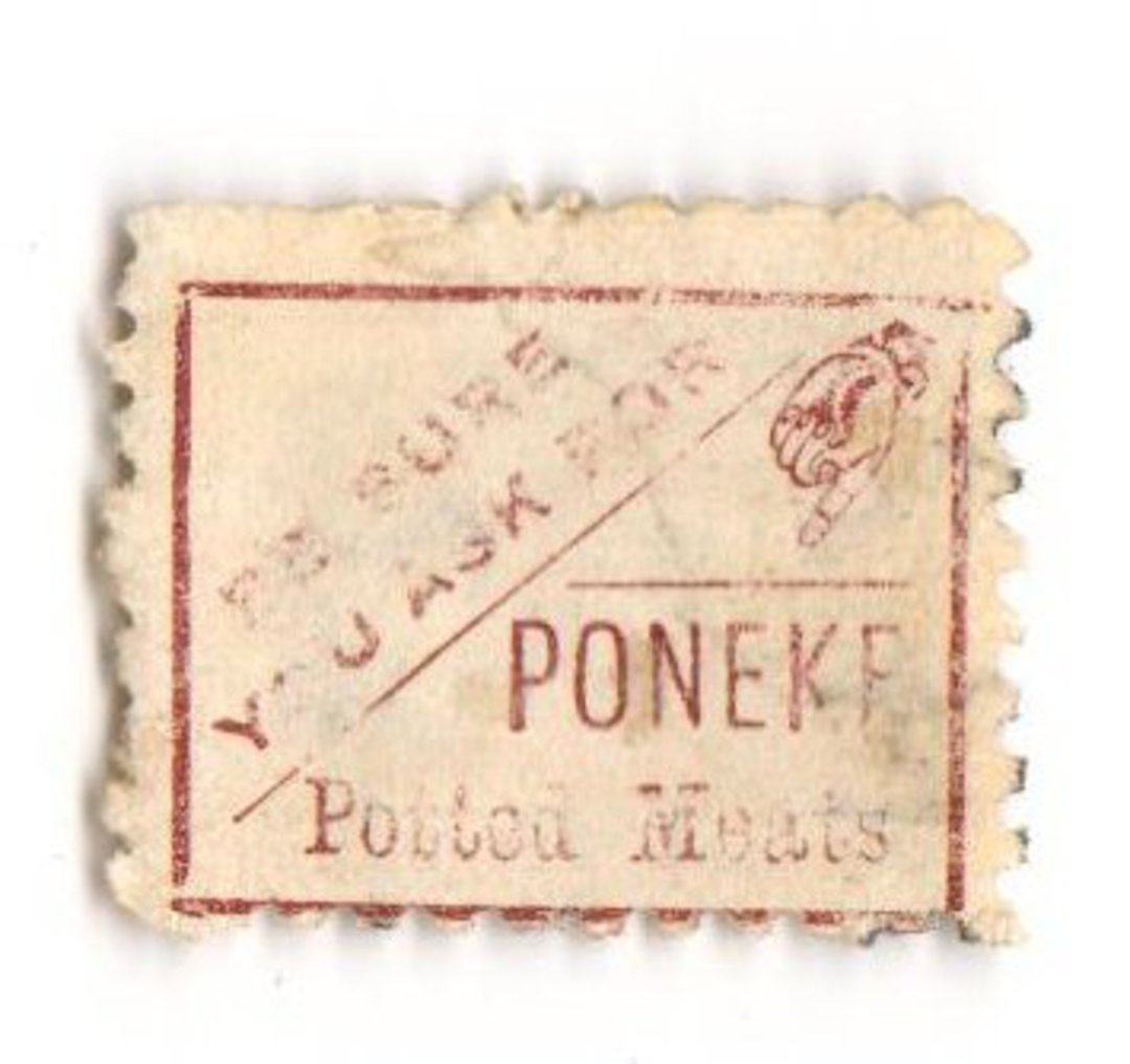 NEW ZEALAND 1882 Victoria 1st Second Sideface 6d Brown. Poneke. Perf 10. Mauve to Brown-Purple. - 3984 - Used image 0
