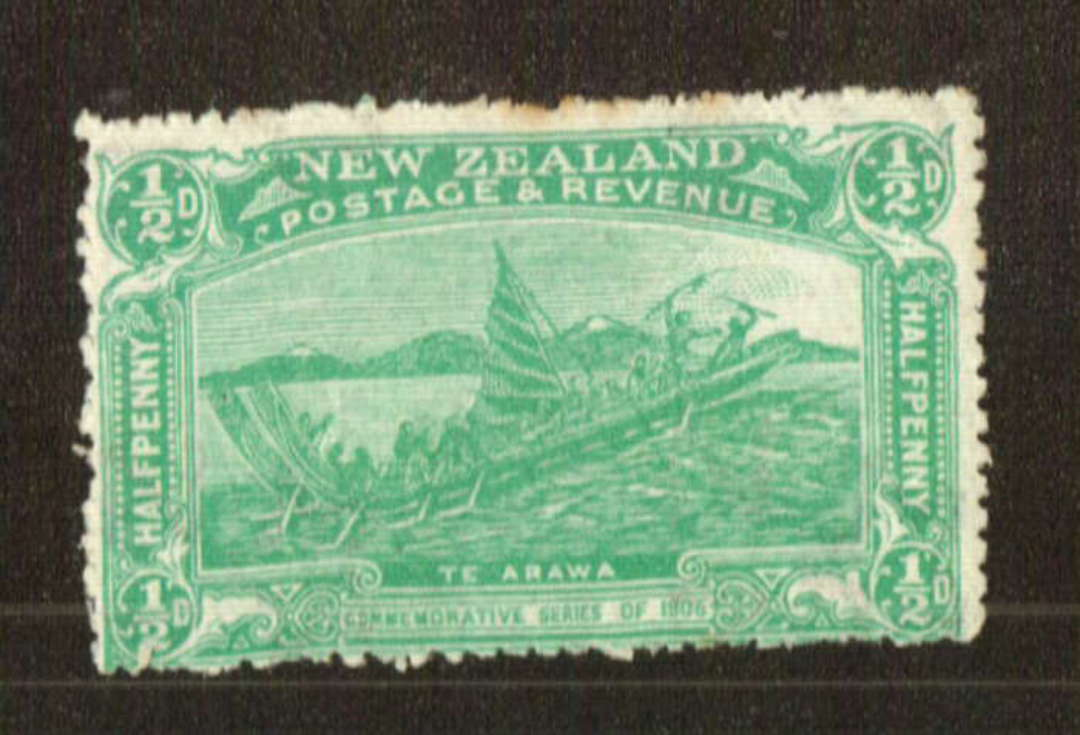 NEW ZEALAND 1906 Christchurch Exhibition ½d Green. Nice bright colour. Three small rust spots. - 71304 - LHM image 0