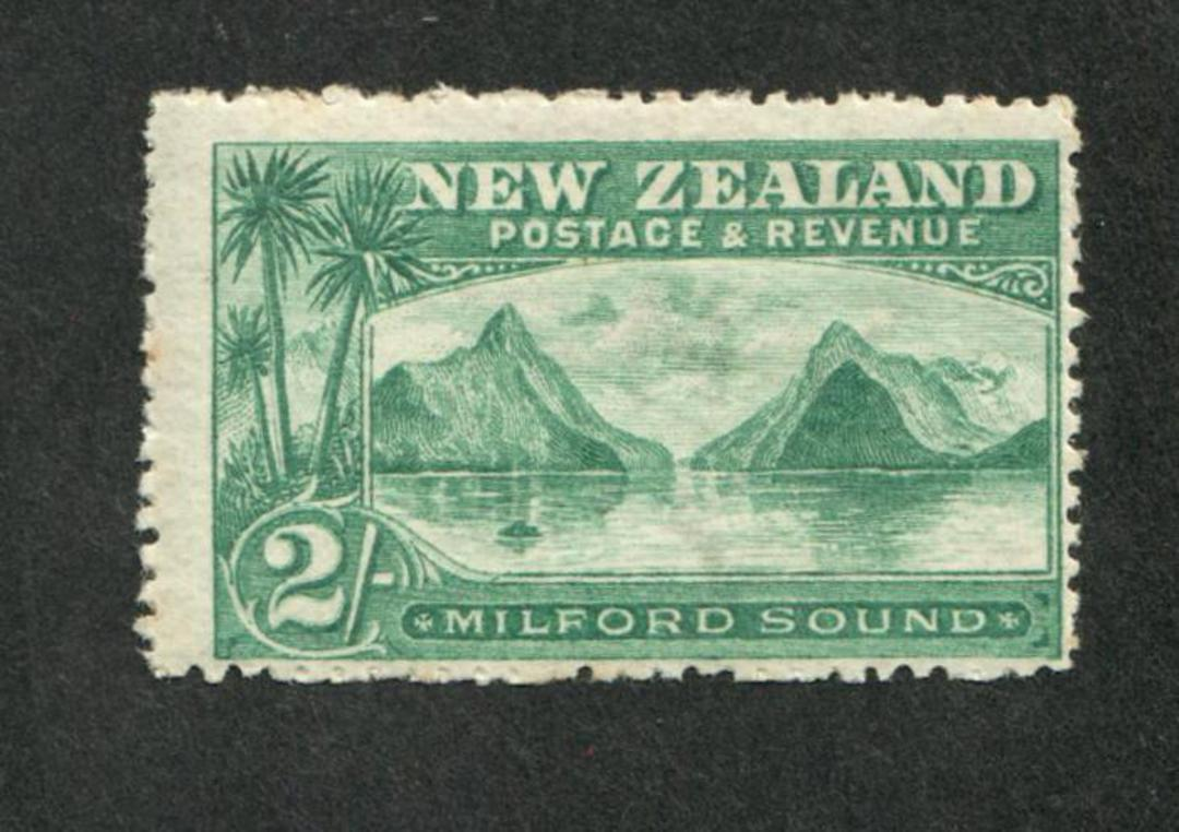 NEW ZEALAND 1898 Pictorial 2/- Milford Sound. - 49 - LHM image 0