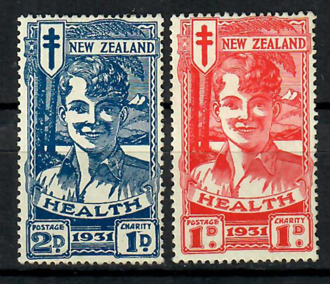 NEW ZEALAND 1931 Red & Blue Boy. Excellent perfs. Very minor gum tone. Above average set. - 70556 - UHM image 0