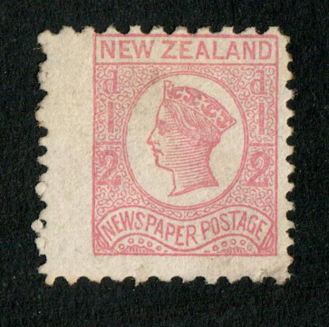 NEW ZEALAND 1873 Newspaper ½d Pale Dull Rose. No Watermark. Perf 10x12½. Good wing margin. - 79403 - Mint image 0