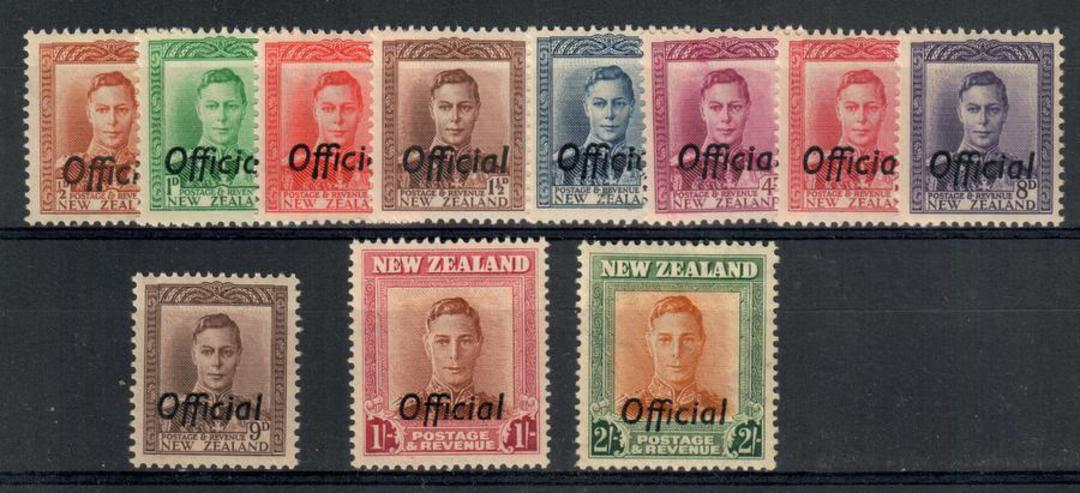 NEW ZEALAND 1938 Geo 6th Officials. Set of 14. - 21882 - UHM image 0