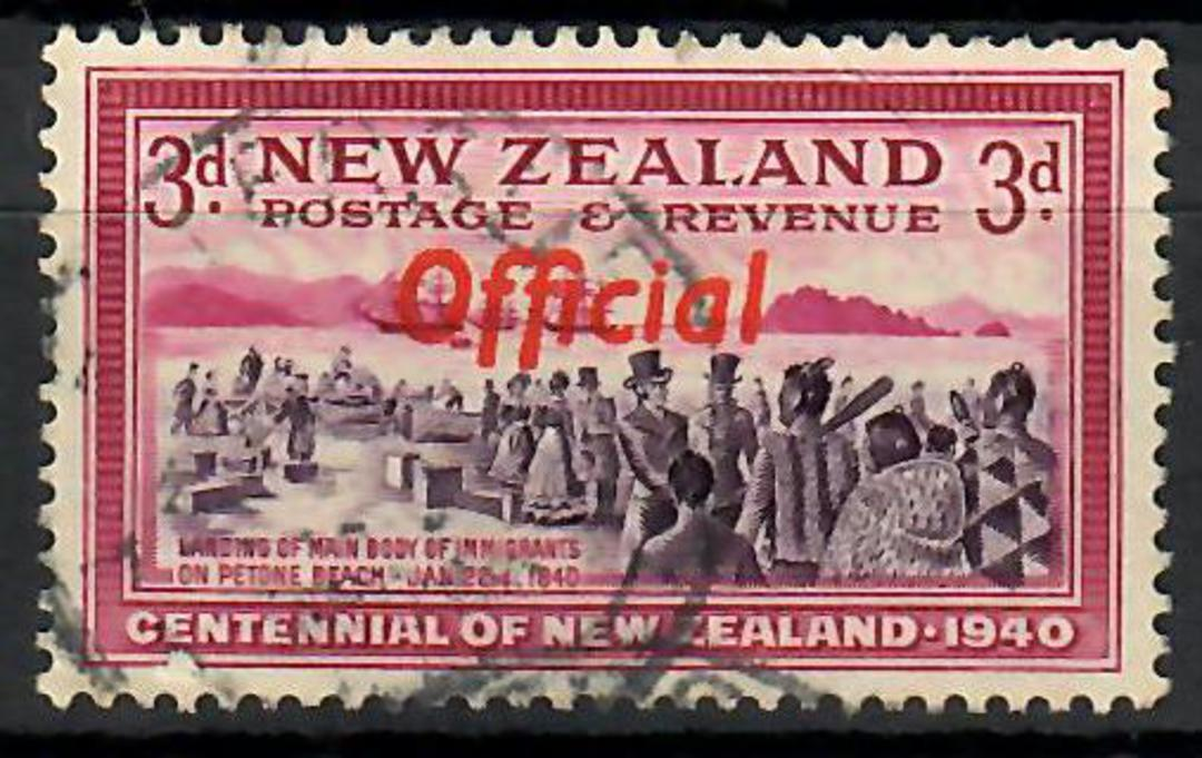 NEW ZEALAND 1940 Official 3d Purple and Carmine with joined ff. - 70450 - Used image 0