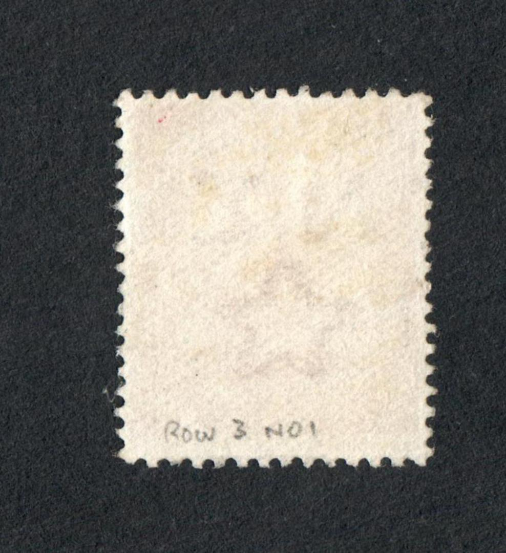 NEW ZEALAND 1909 1d Dominion. Feather flaw. - 4317 - FU image 1