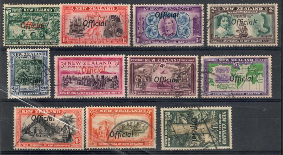 NEW ZEALAND 1940 Centennial Officials. Set of 11. - 24049 - Used image 0