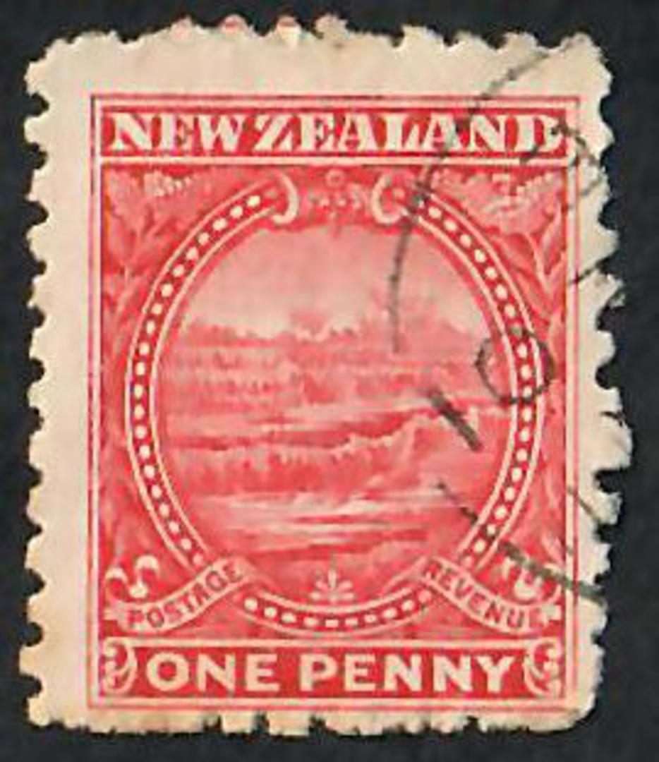 NEW ZEALAND 1898 Pictorial 1d Terraces. - 10056 - FU image 0