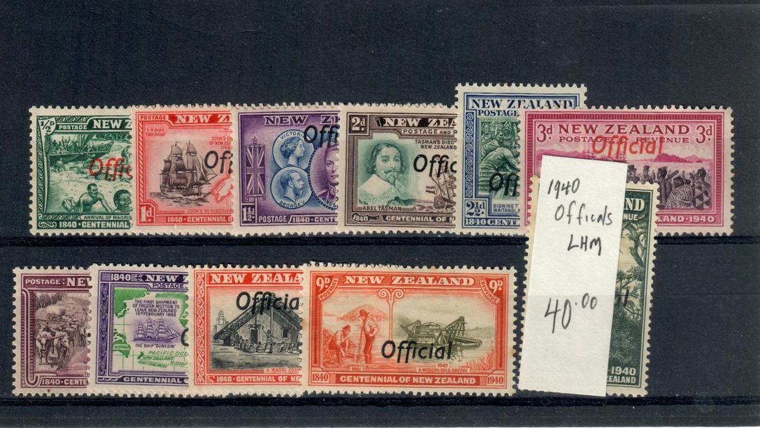 NEW ZEALAND 1940  Centennial Officials. Set of 11. - 21039 - LHM image 0